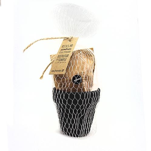 Maceta pizarra con pack bolsa - ECOM10