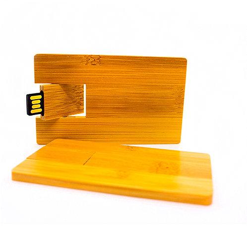 Eco-Pendrive tarjeta Bamboo - 16GB - UDT-46 Bamboo