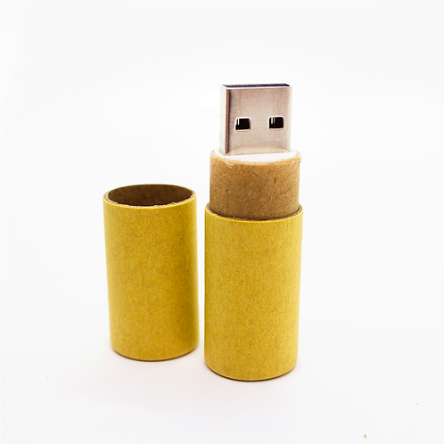 Eco-Pendrive cilindro papel - 8GB - UDT-5