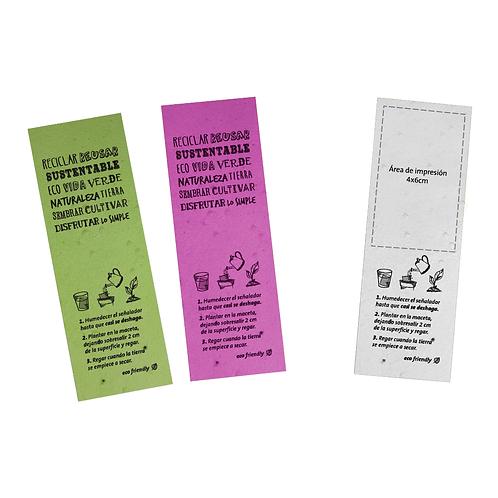 Señalador de papel plantable con impresión (Diseño en 4 opciones) - ECO2