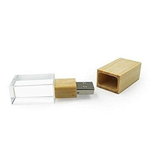 Pendrive con cristal y tapa de madera - 8GB - PEN64