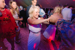 Friend dancing at wedding