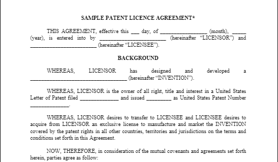 Sample Product Licensing Agreement United Inventors Association