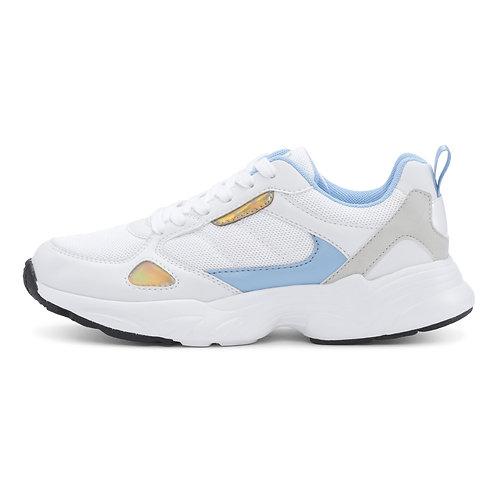 Retro Run - White-Light Blue