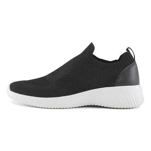 Knit Sock Black-White