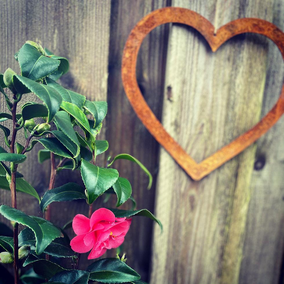 rustic metal garden art gifts Heart