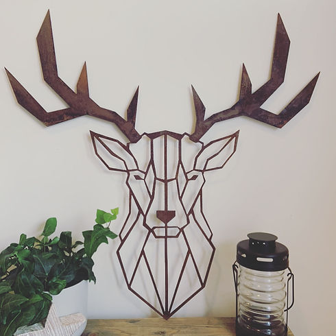 rustic metal garden art and gifts Stag