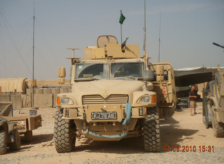 IED vs The Husky (Protected Mobility Platform) vehicle.
