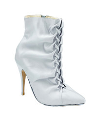 Steel ruched ankle boot