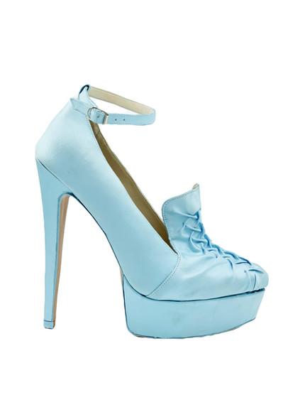 Azure loafer-style Maryjane