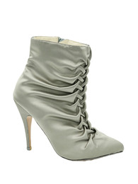 Slate ruched ankle boot