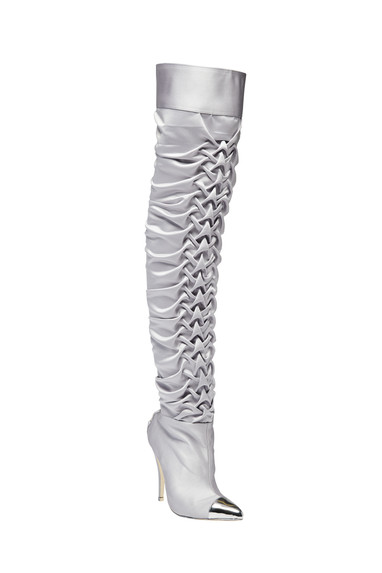 Steel ruched thigh high