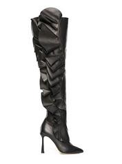Ruffle Thigh High Boot