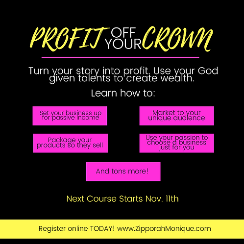 Profit Off Your Crown