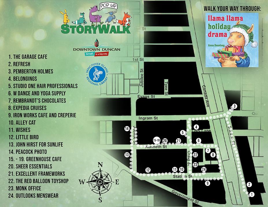 Christmas Storywalk Map 2020 Llama llama