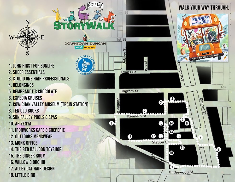 Easter Storywalk Map 2021 Bunnies On The