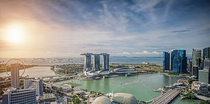 Singapore Skyline. Singapore`s business