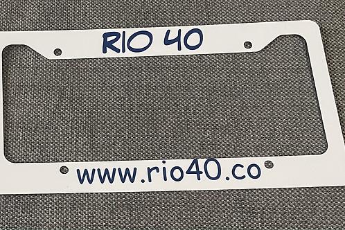 Rio 40 Personalized license plate frame
