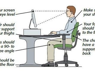 Tips for sitting at work