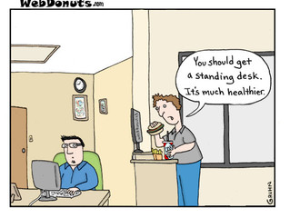 To sit or to stand? Exploring the standing desk trend.