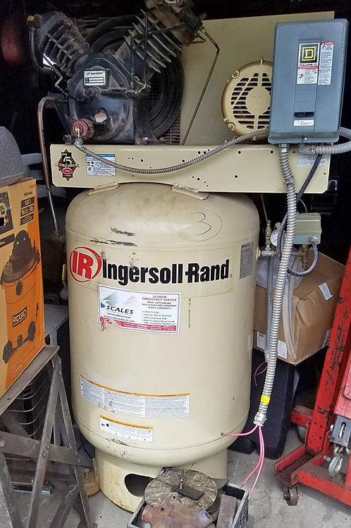 2 Ingersoll Rand 120 Gallon 3 phase compressors