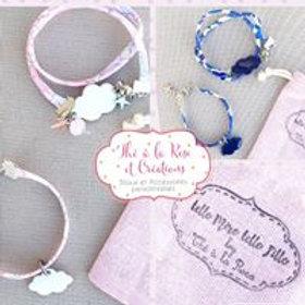 """Lot de 2 bracelets """"Telle Mère telle Fille(s)"""" motif au choix"""