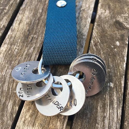 Médaille gravée (1) pour porte clé globe trotter
