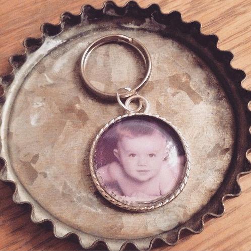 Porte-clé personnalisé avec 1 photo