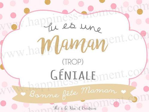 """Carte """"Bonne fête Maman"""" crée par Happiness Moment"""