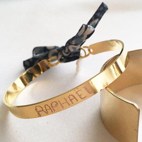 Bracelet jonc Liberty avec Gravure
