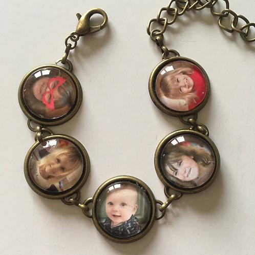 Bracelet Personnalisé avec 5 photos