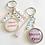 Thumbnail: Porte clé message avec perles prenom personnalisé