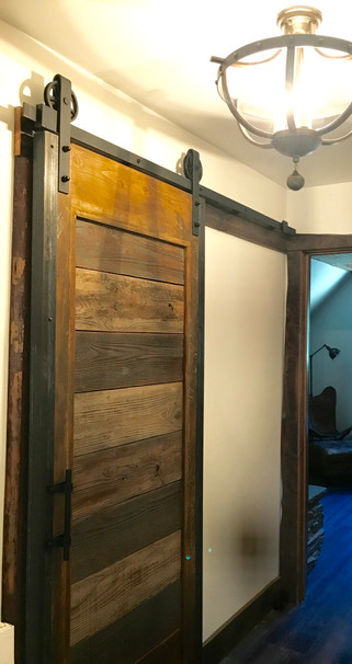 Barnwood bathroom door