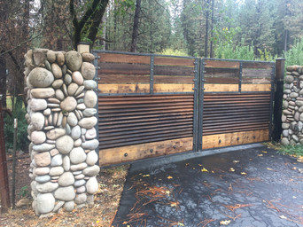 Core-ten and Cedar Gate