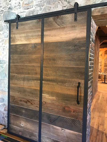 Reclaimed bardwood bar door