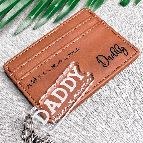 Father's Day Wallet & Keychain Gift Set