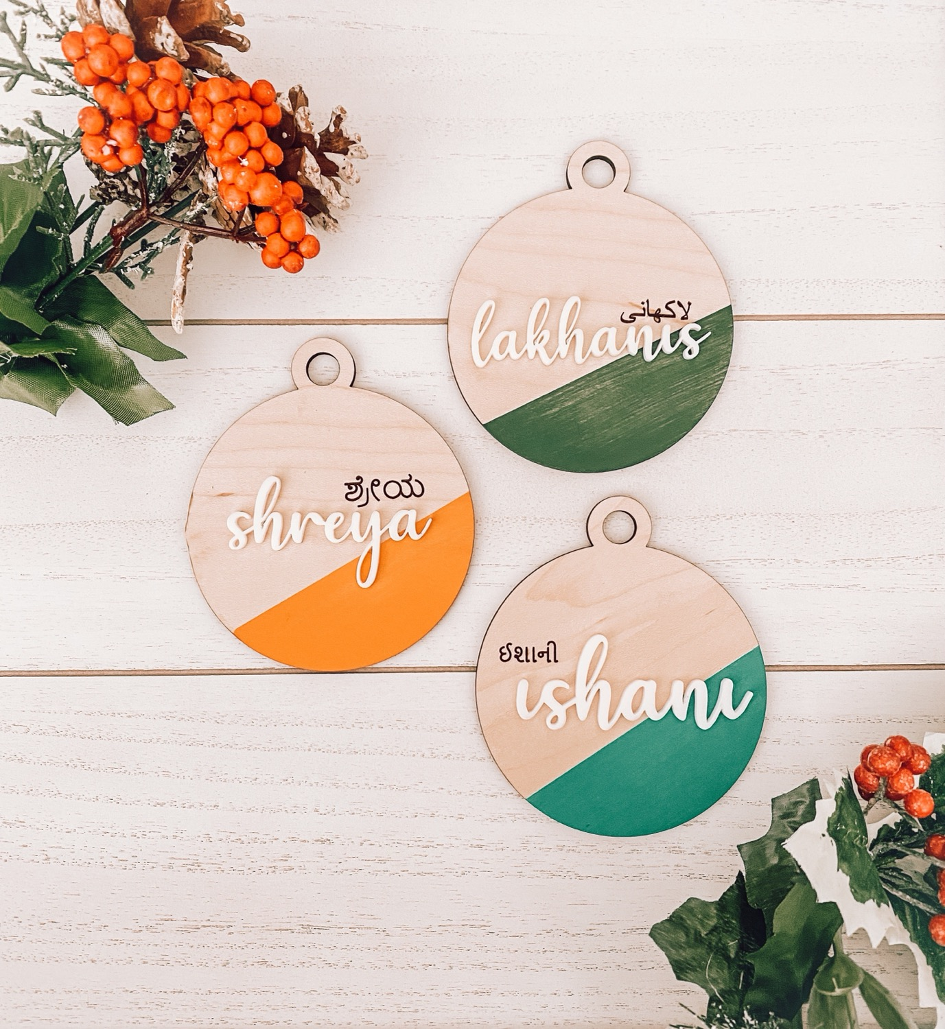Personalized Name Ornaments