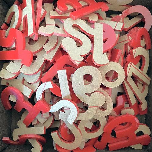 Unfinished Moveable Alphabet Set