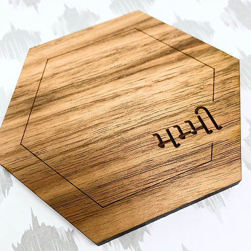 Personalized Wooden Coasters , Set of 4