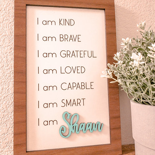 Affirmation Name Frame