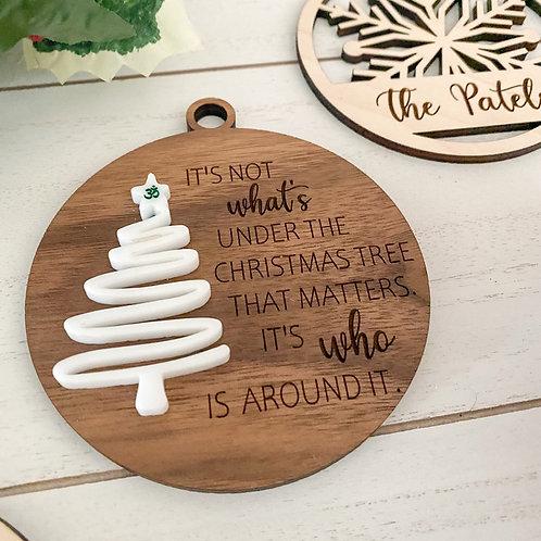 Christmas Grateful Ornament