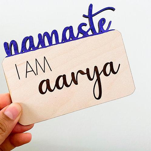 Namaste Birth Announcement Sign