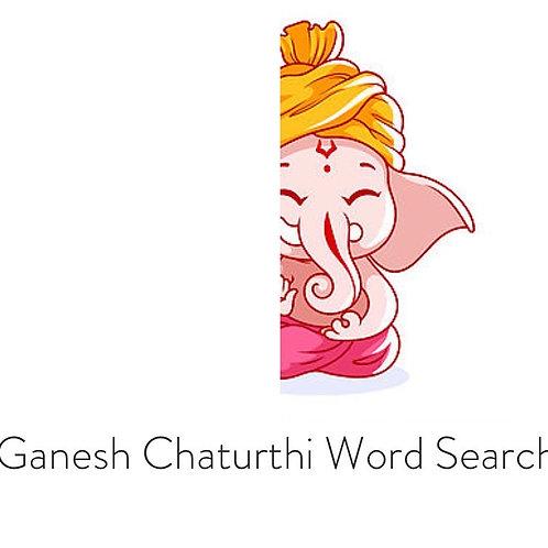 Ganesh Chaturthi Word Search
