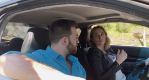 Mancini (Erika Young) and Jim (Austin Fuerst) debating their next move