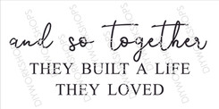 And so together