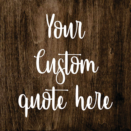 Sign Kit- Create A Custom Design!