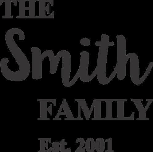 Family Name Stencil