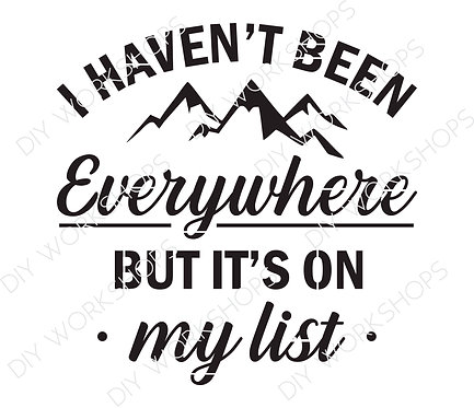 I Haven't Been Everywhere