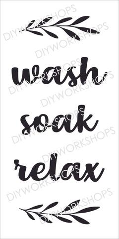 Wash Soak Relax