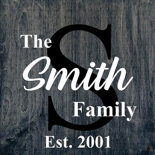 Sign Kit- Family Name (Cursive)